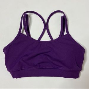 Gaiam Jog Bra Top Purple cross double straps XS